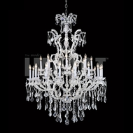 James Moder 40266S22 Maria Theresa Crystal Silver Chandelier Lighting