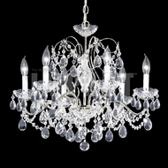 James Moder 40286S22 Regalia Crystal Silver Chandelier Lamp