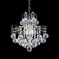 James Moder 40313S22 Cascade Crystal Silver Mini Hanging Chandelier / Ceiling Lighting