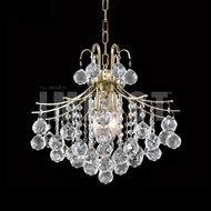 James Moder 40315G22 Cascade Crystal Gold Mini Chandelier Light / Flush Mount