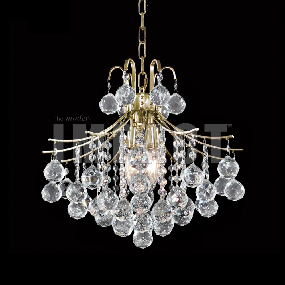 James Moder 40315G22 Cascade Crystal Gold Mini Chandelier Light