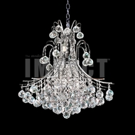 James Moder 40316S22 Cascade Crystal Silver Mini Chandelier Lighting