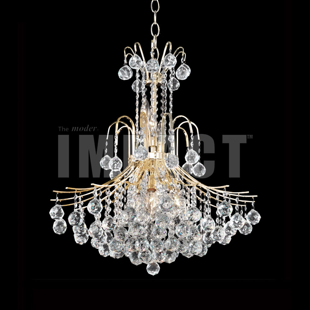 James Moder 40317G22 Cascade Crystal Gold Chandelier Lamp JAM40317G22