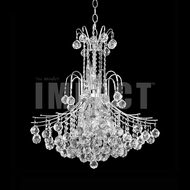 James Moder 40317S22 Cascade Crystal Silver Lighting Chandelier
