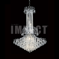 James Moder 40318S22 Cascade Crystal Silver Chandelier Light
