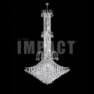 James Moder 40319S22 Cascade Crystal Silver Ceiling Chandelier