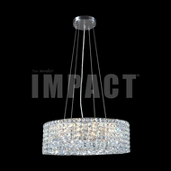 James Moder 40396S22 Silver Drum Lighting Pendant