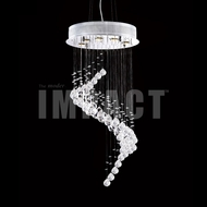 James Moder 40402S22 Crystal Rain Silver Halogen Chandelier Light