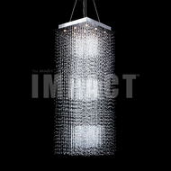 James Moder 40403S22 Crystal Rain Silver Halogen Chandelier Lighting