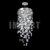James Moder 40411S22 Crystal Rain Silver Halogen Chandelier Light