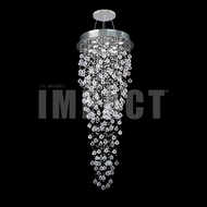 James Moder 40414S22 Crystal Rain Silver Halogen Ceiling Chandelier
