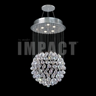 James Moder 40421S22 Crystal Rain Silver Halogen Chandelier Light