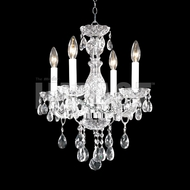 James Moder 40464S22 Place Ice Crystal Silver Mini Chandelier Lighting