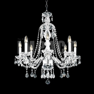 James Moder 40468S22 Place Ice Crystal Silver Chandelier Light