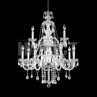 James Moder 40469S22 Place Ice Crystal Silver Ceiling Chandelier