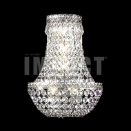 James Moder 40531S22 Imperial Crystal Silver Wall Sconce Lighting