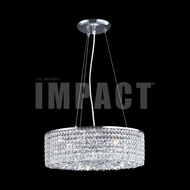 James Moder 40593S22 Silver Drum Hanging Lamp