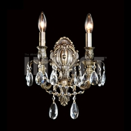 James Moder 40612MB22 Brindisi Crystal Monaco Bronze Wall Lighting Sconce