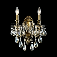 James Moder 40612MB2GT Brindisi Crystal Monaco Bronze Wall Sconce Lighting