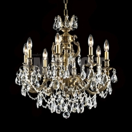 James Moder 40618MB22 Brindisi Crystal Monaco Bronze Lighting Chandelier
