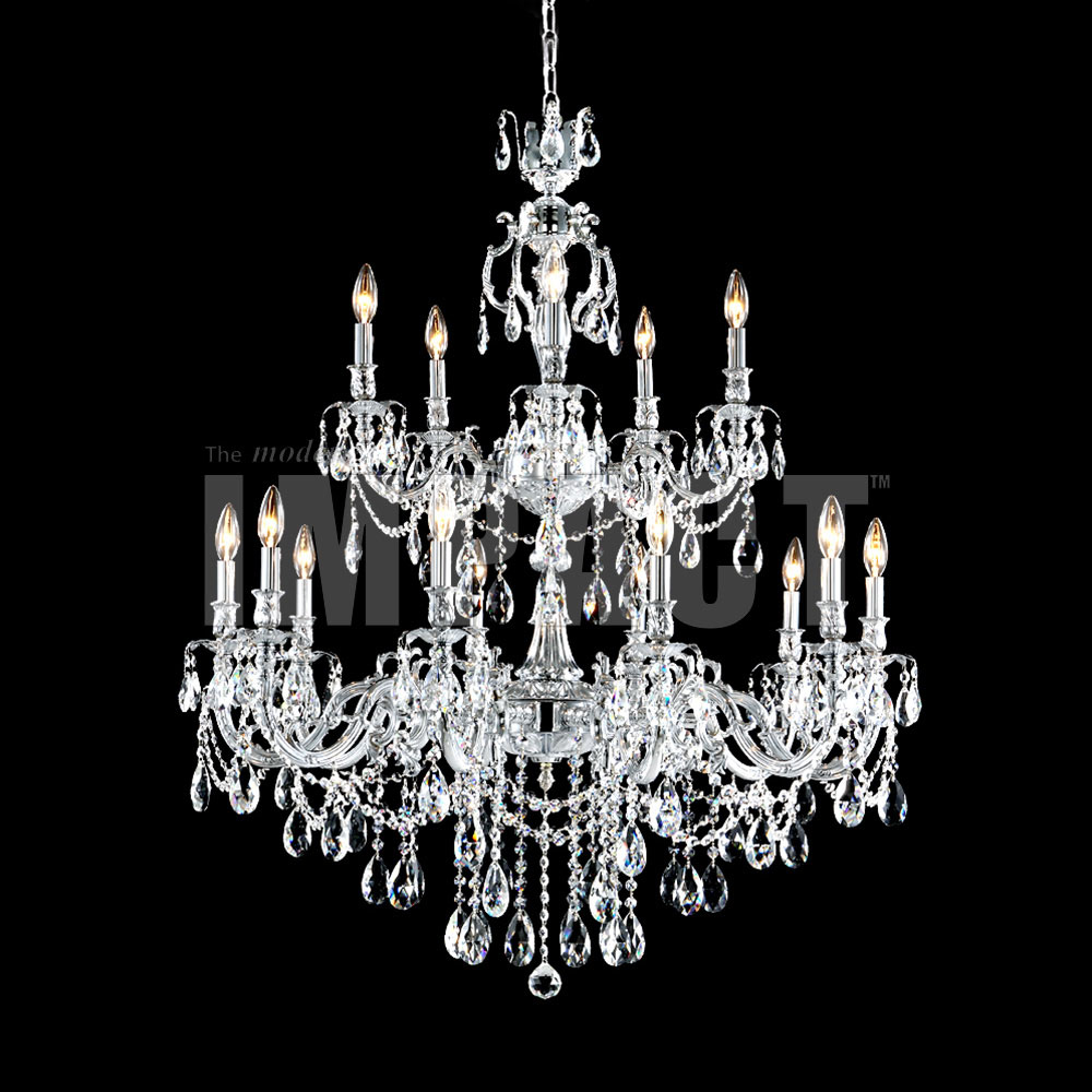 james moder s brindisi crystal silver chandelier light  - james moder s brindisi crystal silver chandelier light loading zoom