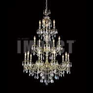 James Moder 40621MB22 Brindisi Crystal Monaco Bronze Hanging Chandelier