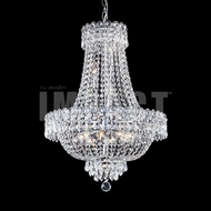 James Moder 40635S22 Imperial Crystal Silver Mini Chandelier Lighting