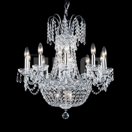 James Moder 40638S22 Imperial Crystal Silver Lighting Chandelier