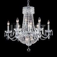 James Moder 40660S22 Imperial Crystal Silver Chandelier Light