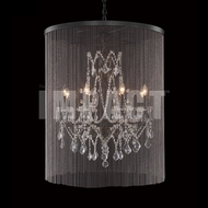 James Moder 40678BZ22-45 Charleston Crystal Bronze Chandelier Lighting
