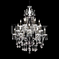 James Moder 40680BZ22 Charleston Crystal Bronze Lighting Chandelier