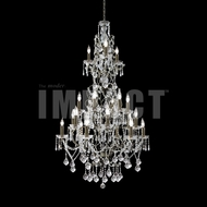 James Moder 40682BZ22 Charleston Crystal Bronze Chandelier Lamp