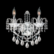 James Moder 40722S22 Regalia Crystal Silver Wall Sconce