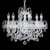 James Moder 40726S22 Regalia Crystal Silver Mini Chandelier Lamp