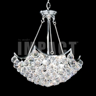 James Moder 40734S22 Cascade Crystal Silver Mini Chandelier Light