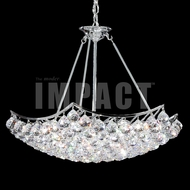 James Moder 40736S22 Cascade Crystal Silver Chandelier Lighting