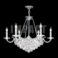 James Moder 40738S22 Cascade Crystal Silver Lighting Chandelier