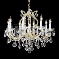 James Moder 40808GL22 Maria Theresa Gold Lustre Hanging Chandelier