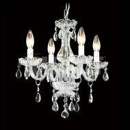 James Moder 40824S22 Crystal Silver Mini Chandelier Light