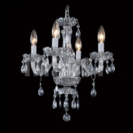 James Moder 40824S2SM Crystal Silver Mini Lighting Chandelier