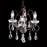 James Moder 40833VB22 Crystal Vintage Bronze Mini Chandelier Lamp