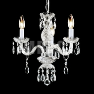 James Moder 40843S22 Crystal Silver Mini Chandelier Light