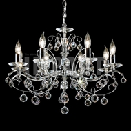 James Moder 40898S22 Regalia Crystal Silver Chandelier Light