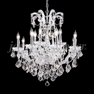 James Moder 91030S22 Maria Theresa Grand Crystal Silver Hanging Chandelier