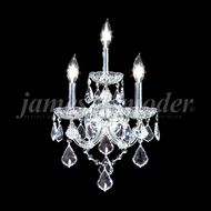 James Moder 91703S22 Maria Theresa Grand Crystal Silver Lighting Wall Sconce