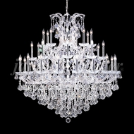 James Moder 91770S22 Maria Theresa Grand Crystal Silver Chandelier Lighting