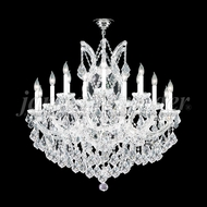 James Moder 91790S2X Maria Theresa Grand Crystal Silver Chandelier Lamp