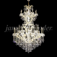 James Moder 91796GL22 Maria Theresa Grand Crystal Gold Lustre Ceiling Chandelier
