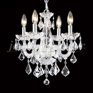 James Moder 91804S22 Maria Theresa Grand Crystal Silver Mini Chandelier Light