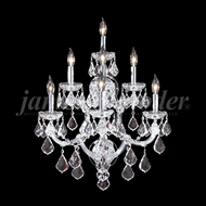 James Moder 91807S22 Maria Theresa Grand Crystal Silver Wall Sconce Lighting